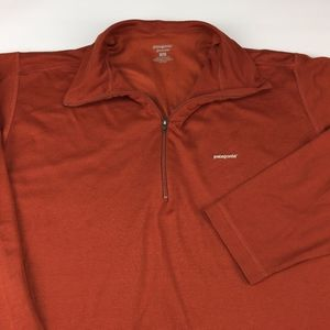 Patagonia Capilene Men's 1/4 Zip Pullover Sz L.Red